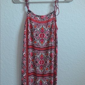 Billabong Mini tie shift dress // size xs